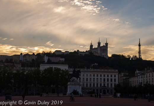 Lyon skyline, from Place Bellecour